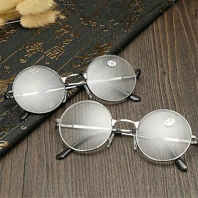 Round Spectacle Reading Glasses Potter Style Metal Frame Circle Glasses