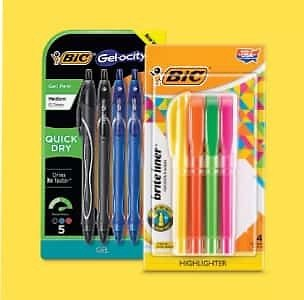 BOGO 25% Off Bic Writing Supplies* + More Deals On 100s of School Items.