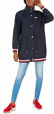 Tommy Hilfiger Hooded Drawstring-Waist Jacket