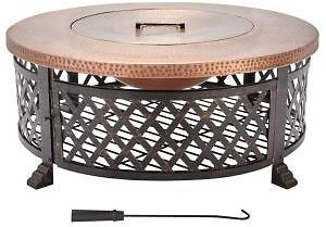 Home Decorators Collection 40 In. Lattice Fire Pit Table in Copper + Free Shipping!