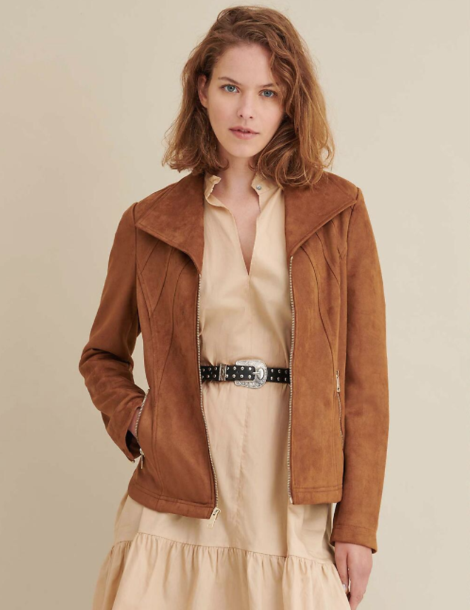 All Over Faux Suede Jacket - Wilsons Leather