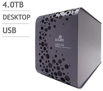 IoSafe SOLO G3 4TB Disaster Proof External Hard Drive