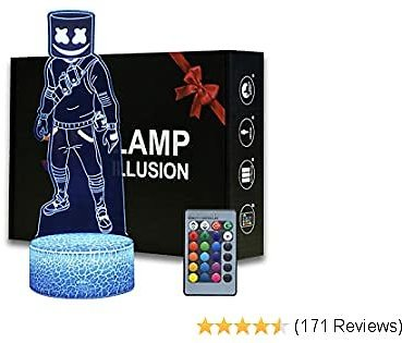 Marshmello Magiclux Game Series Battle Royale 3D Illusion Night Light ABS Base Acrylic Board with Romete Control,