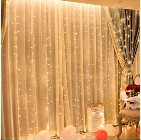 300 LED Fairy String Light For Curtain, 8 Modes Control Decoration for Bedroom Window Wedding Party