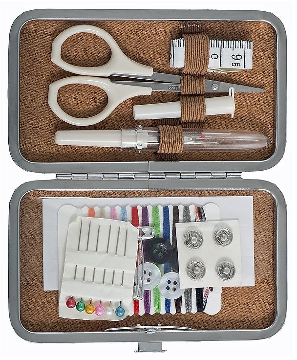 Vintage-Inspired Sewing Repair Compact Set