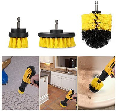 FLASH SALE! SEE THE VIDEO! 3 Piece Scrub Brush Drill Attachment Kit - All Purpose Power Scrubber for Those Tough to Clean Places! Great for Kitchens, Bathrooms, Tile, Grout, and Washing Your Car! Your Getting a GREAT Deal Because They Will Arrive...