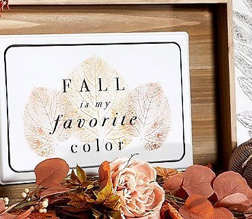 Up to 60% Off Fall Home Decor & Floral