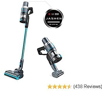 JASHEN V18 Cordless Vacuum Cleaner, 350W Power Strong Suction 2 LED Powered Brushes Cordless Stick Vacuum, Dual Charging 2020