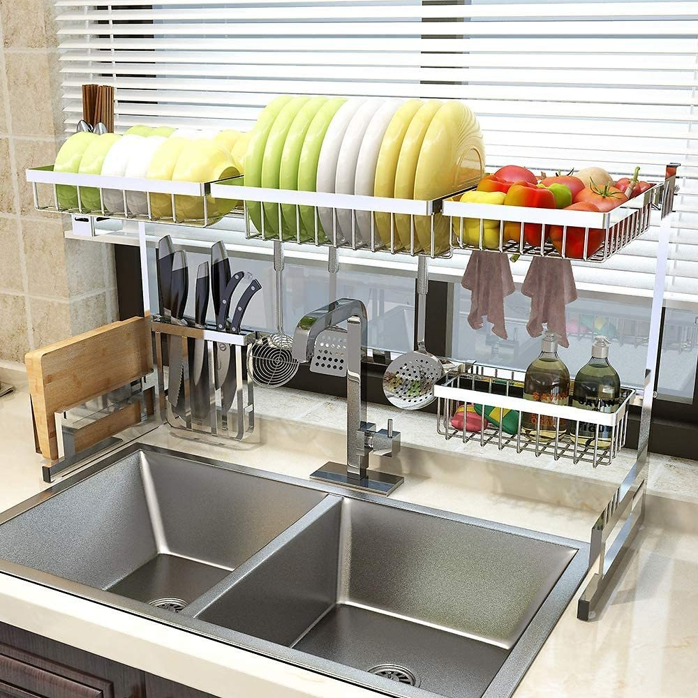 33 Inch Over Sink Dish Drying Rack