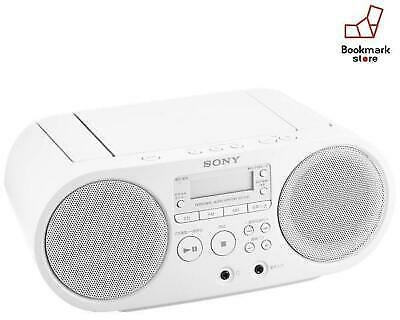 New SONY CD Radio FM / AM / Wide FM Compatible White ZS-S40 W F/S from Japan 4905524992588