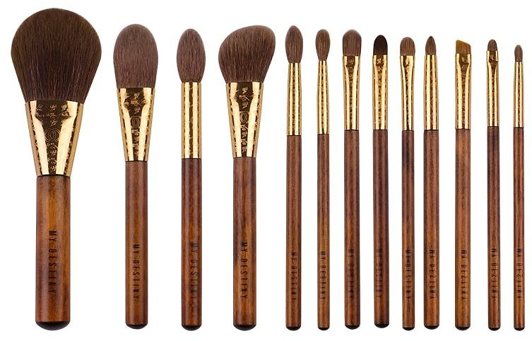 MyDestiny Makeup Brushes Makeup Tools/The Rising Sun Series 13 High Quality Brushes and Traditional Jacquard Weave Cosmetic Bag