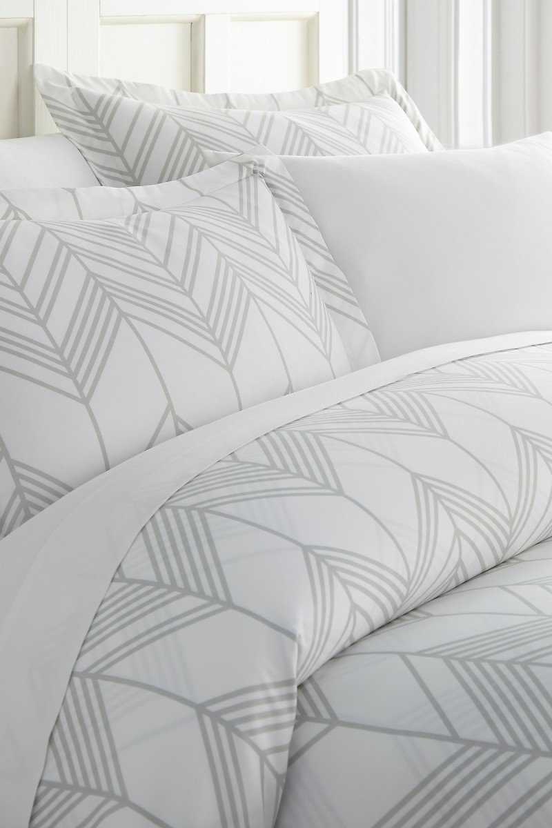 IENJOY HOME | Enhance And Improve Your Bedroom 3-Piece Duvet Cover Set - Light Gray - Queen | Nordstrom Rack
