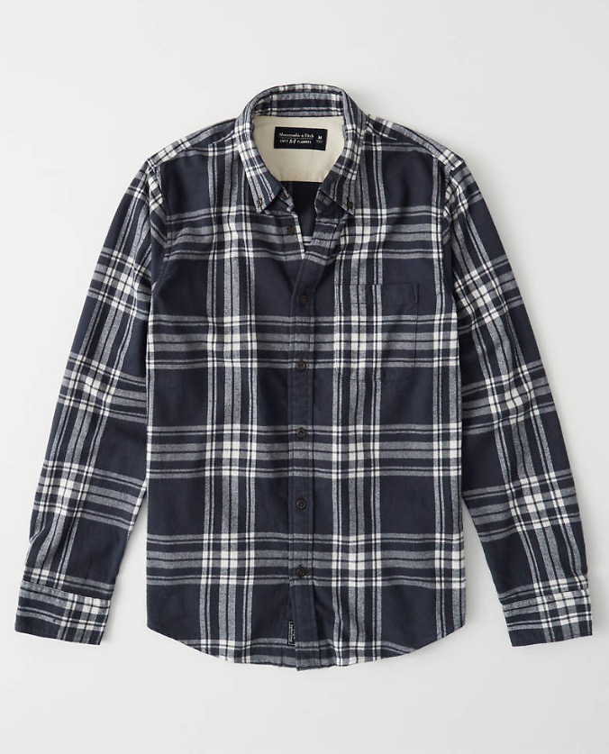 Men's Buffalo Check Flannel Shirt | Abercrombie.com