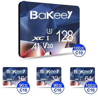 Bakeey BK-TF2 Flash Card 16GB 32GB 64GB 128GB Class 10 High Speed TF/SD Memory Card With Card Adapter
