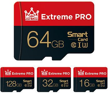 Extreme Pro High Speed 16GB 32GGB 64GB 128GB Class 10 TF Memory Card Flash Drive With Card Adapter