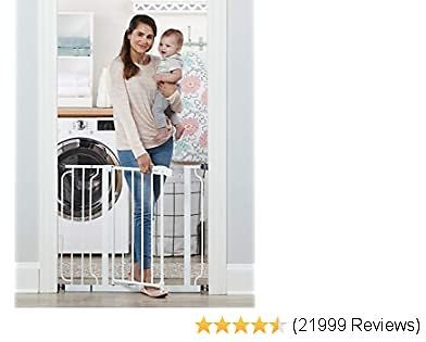 Regalo Easy Step 38.5-Inch Extra Wide Walk Thru Baby Gate, Includes 6-Inch Extension Kit, 4 Pack Pressure Mount Kit