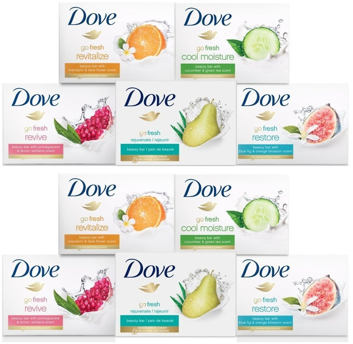15-Pack Dove Bar Soap Variety Bundle + F/S