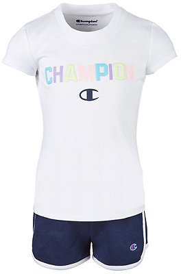 Champion Toddler Girls 2-Pc. Varsity T-Shirt & Shorts Set & Reviews - Sets & Outfits - Kids