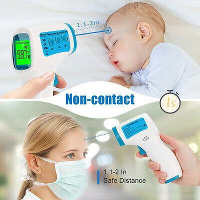 Save 10% Off LCD Digital Non-contact IR Infrared Thermometer Forehead Body Temperature Tool 696430257604