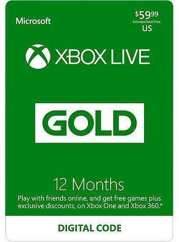 Xbox LIVE 12 Months Gold Membership US (Digital Code) ( Promo Code Updated )