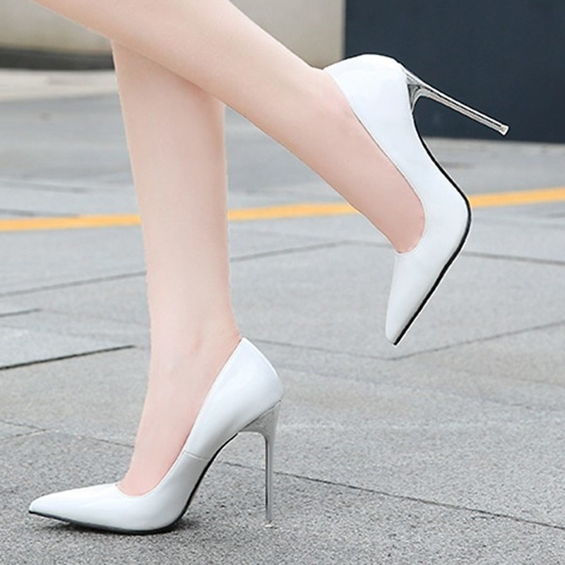 US $18.5 49% OFF|Pumps for Women 7.5cm High Heel Shoes Fashion Pointed Toe Large Size 35 46 Nightclub Sexy Metal Heel Stiletto Ladies|Women's Pumps| - AliExpress