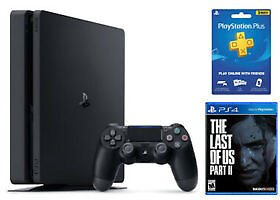 PlayStation 4 Slim 1TB Console + The Last of Us Part 2 + 3 Month PlayStation Plu
