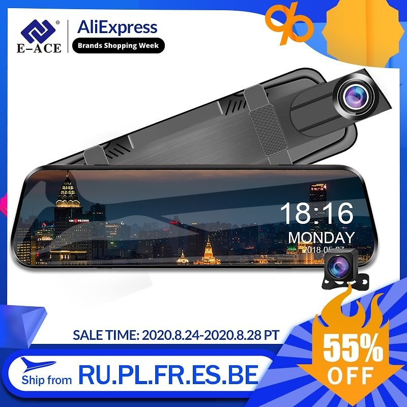 US $33.06 52% OFF|E ACE 10 Inch Touch Car Dvr Streaming Media Mirror Dash Cam FHD 1080P Video Recorder Dual Lens Support 1080P Rearview Camera GPS|DVR/Dash Camera| - AliExpress