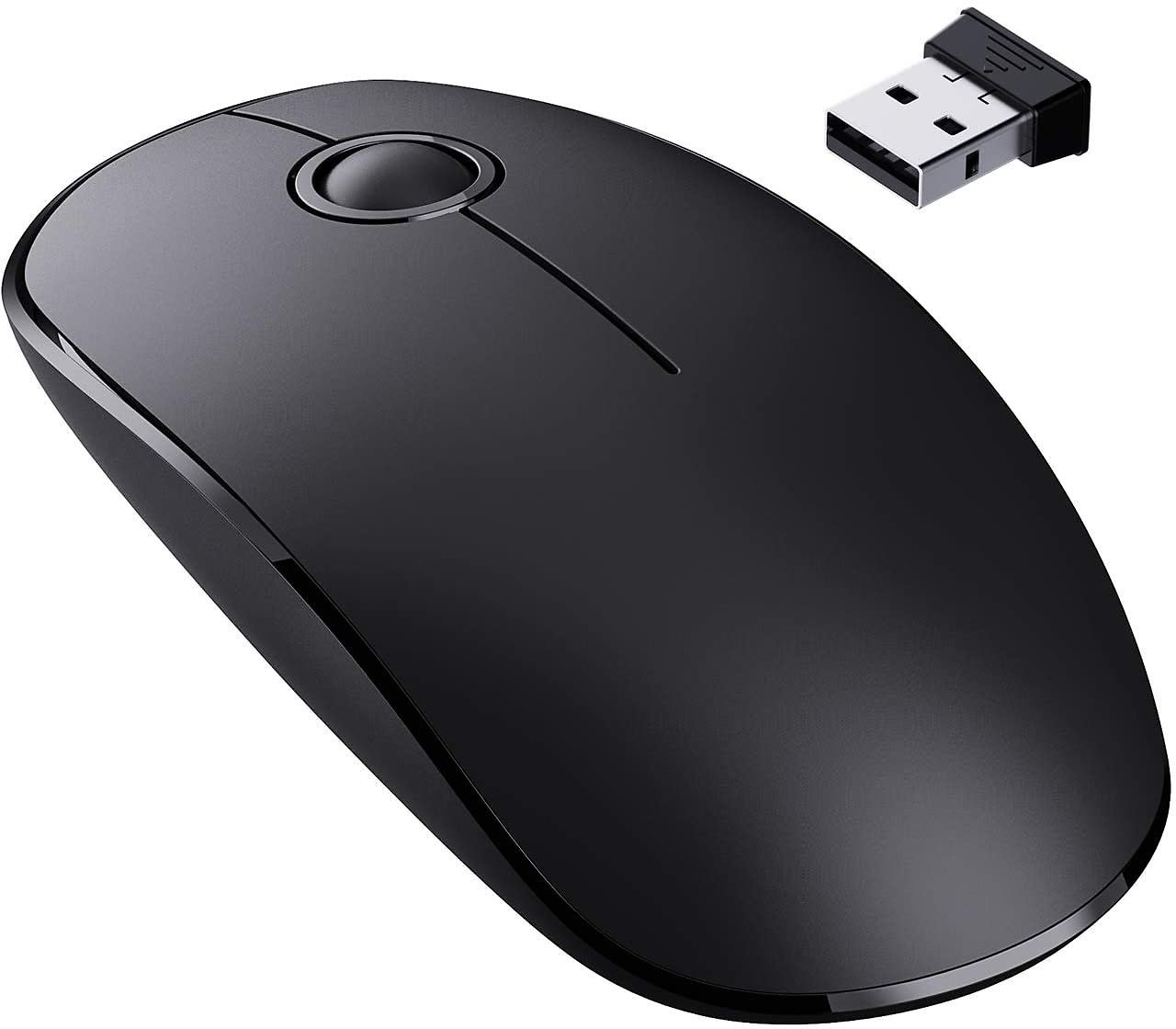 36% Discount - VicTsing Slim Wireless Mouse, 2.4G Silent Laptop Mouse- Enjoy Noiseless Clicking