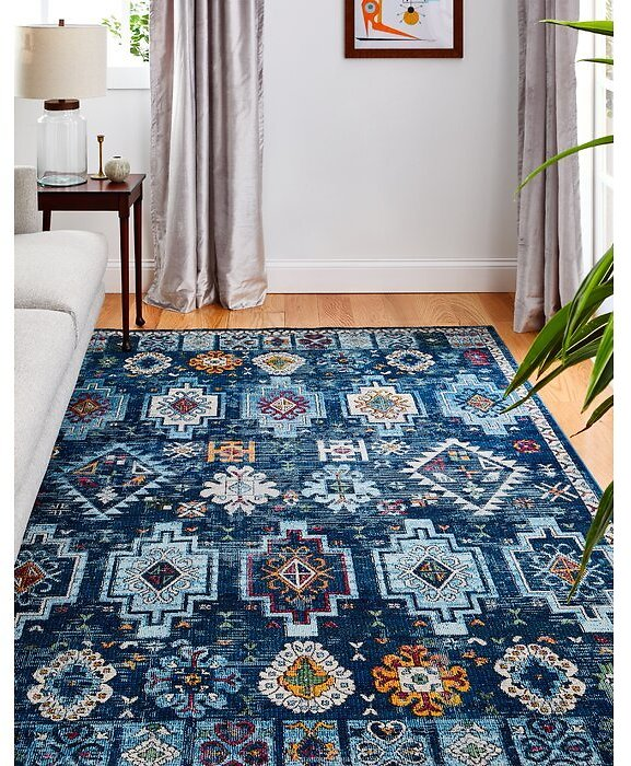 Grasston Blue Area Rug By Bungalow Rose, 2'6
