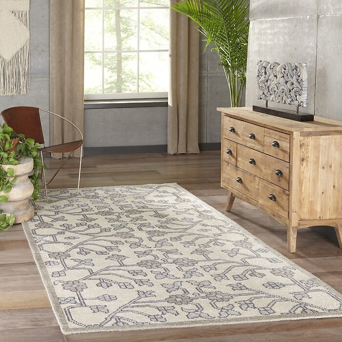 Zoey Hand Hooked Viscose Gray Rug By Bangalow Rose, 2' X 3'