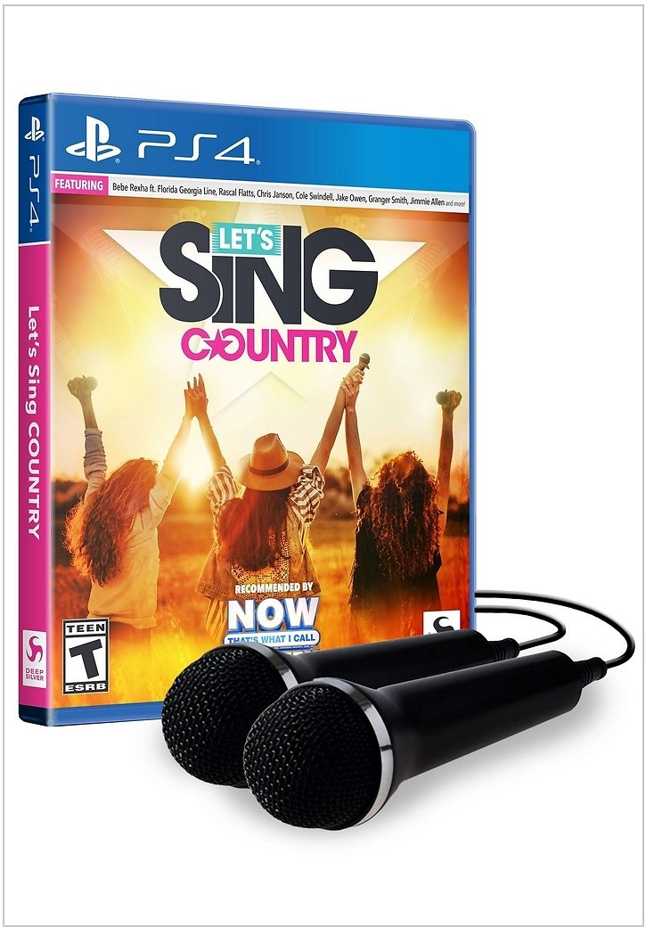 Let's Sing Country with 2 Mics Bundle   PlayStation 4   GameStop