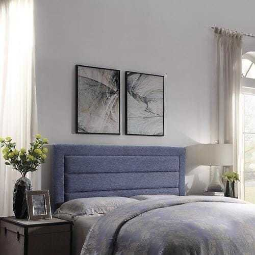 FirsTime FirsTime and Co Gray Full/Queen Linen Upholstered Headboard Lowes.com