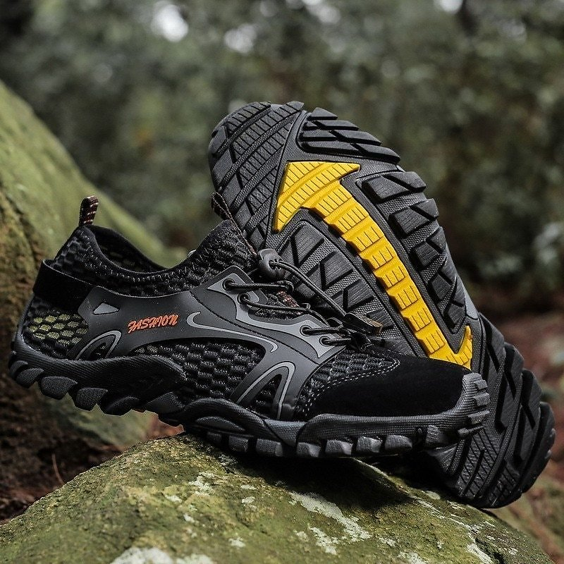 US $19.37 49% OFF Men Mesh Aqua Shoes Outdoor Professional Non Slip Durable Trekking Upstream Shoes Male Cool Hiking Wading Water Sports Sneakers Upstream Shoes  - AliExpress