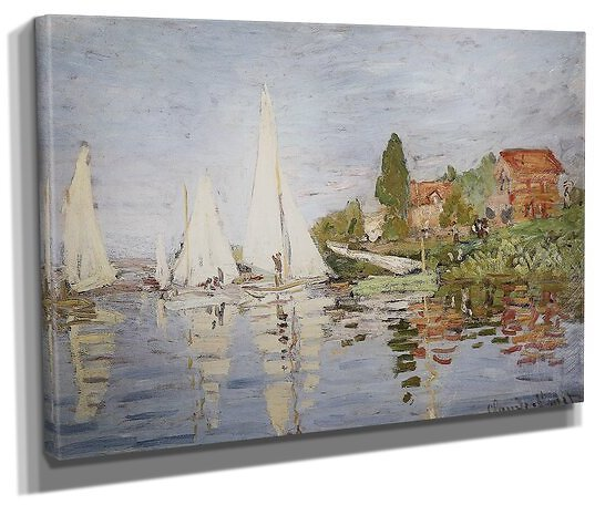 'Chapelton At Argenteuil' by Claude Monet, Painting Print on Wrapped Canvas