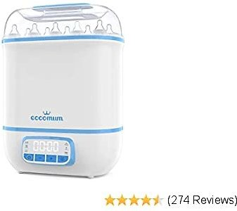 Eccomum Baby Bottle ���������� and Dryer, LED Touch Screen, 360° Steam ������������ & Drying, Super Large Capacity, HEPA Filter, Homemade Dried Fruit