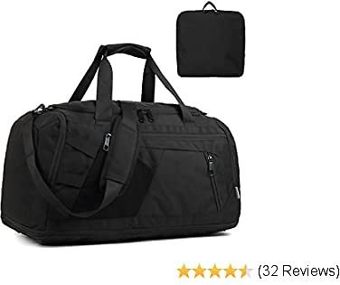 Travel Duffel Bag for Men with Shoe Compartment Women Overnight Weekend Carry On Airline Sport Gym Bag with Dry Wet Pocket