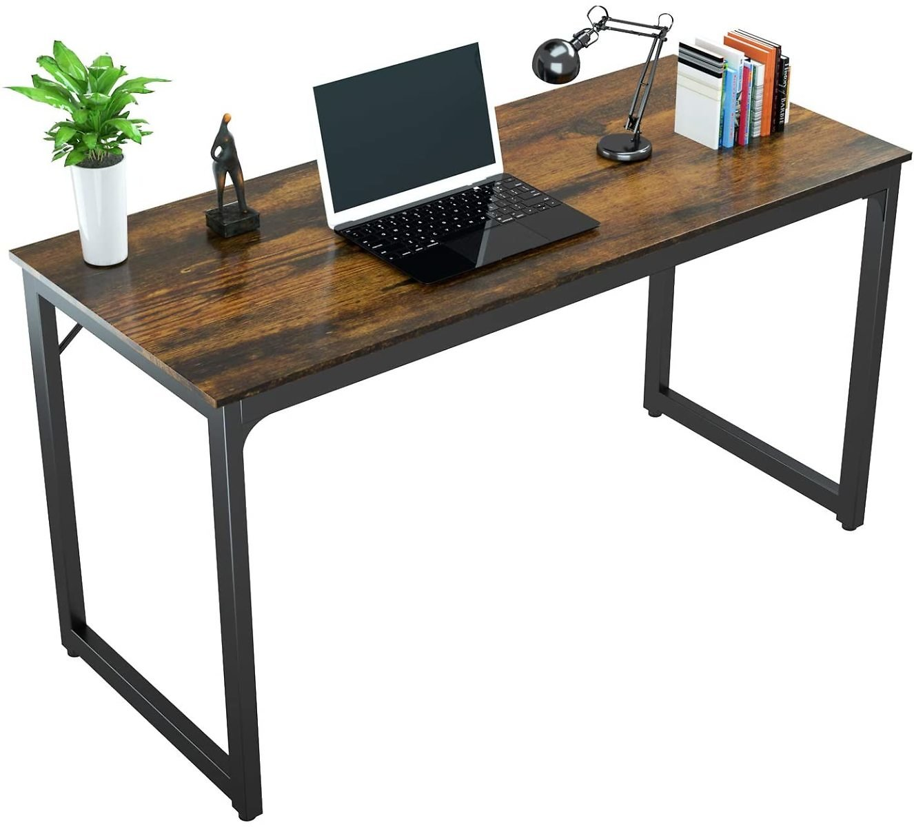 "8% Discount - Foxemart 47 Inch Computer Desk Sturdy Office Desks 47"" Modern PC Laptop Notebook Study Writing Table for Office"