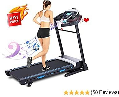 ANCHEER Treadmill, 3.25HP Folding Treadmills for Home with APP Control and Automatic Incline, Running Walking Jogging Machine for Office/Home/Gym Cardio Use