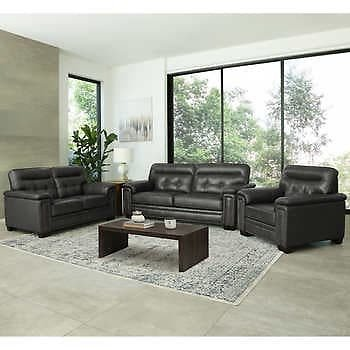 Harrison 3-piece Leather Set - Sofa, Loveseat, Chair