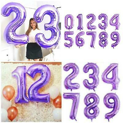 40'' Number Foil Balloons PURPLE THEME Wedding Birthday Party Baby Shower Decor