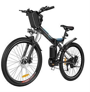 Top-Class Big Discount 26inch 36V Foldable Electric Power Mountain Bicycle White with Lithium-Ion Battery