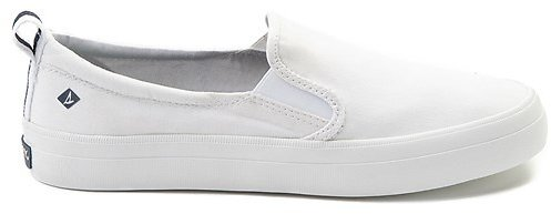 Womens Sperry Top-Sider Crest Slip On Casual Shoe - White