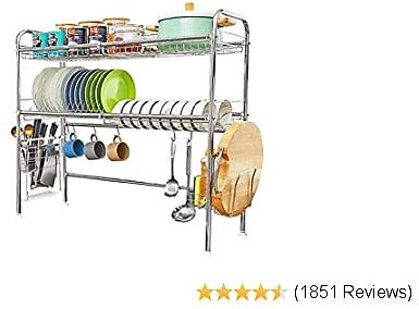 20% OFF +7 By Using Coupon On: HEOMU Over The Sink Dish Drying Rack,