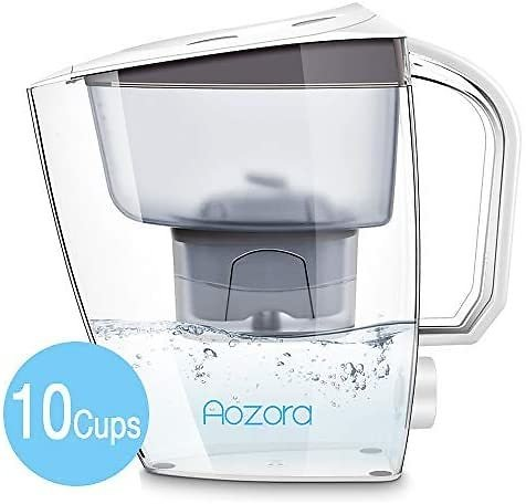 50% OFF Aozora Water Filters Pitcher with 1 Filter Removing Lead Chlorine Taste , 10 Cups $12.49