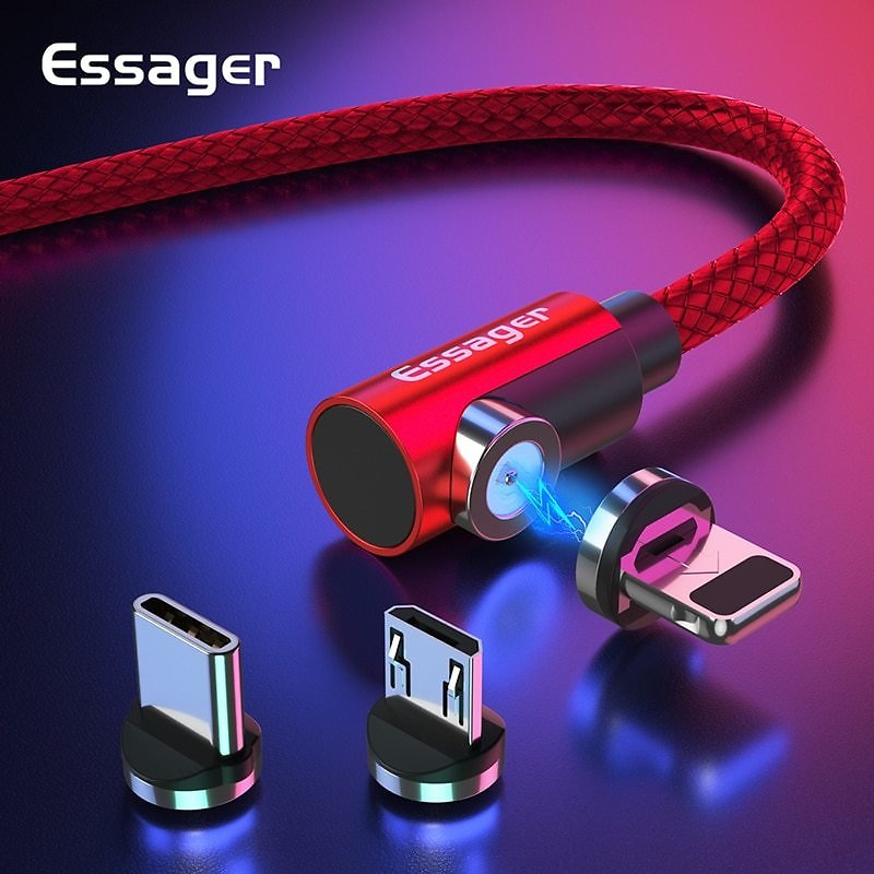 Essager Magnetic Cable Micro USB Type C Charging Cable For Samsung IPhone 7 6 Charger Fast Magnet  USB C Cord Wires Adapter