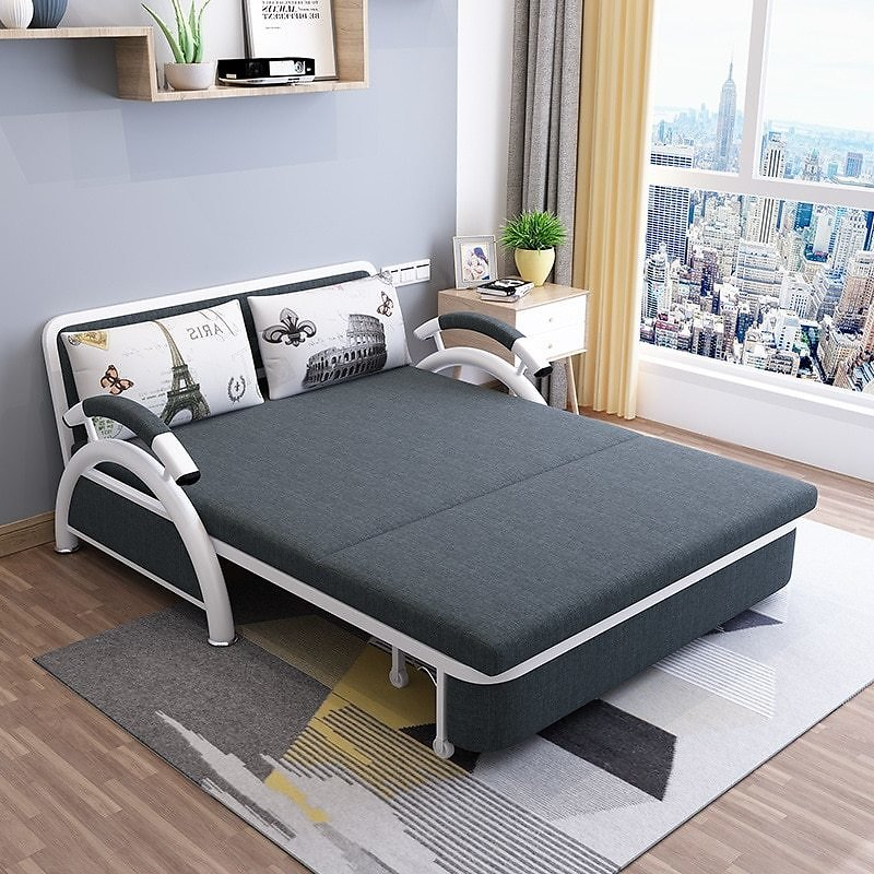 Factory Wholesale Multi-Function Foldable Sofa Bed Living Room Small Apartment Double Three Dual-Use Sofa Bed