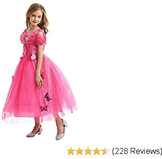 GREAMBABY Princess Fancy Dress Up Costume Halloween Christmas Birthday Party Outfit for Little Girls
