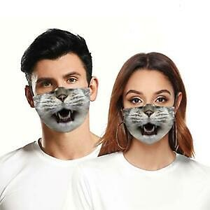 Reusable Unisex Funny Mask Washable Facemask Half Face Mouth Mark Adult Party