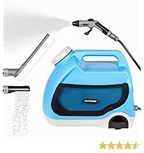 ENERCAMP Multipurpose Portable Spray Washer with Water Tank/ 4 Types Nozzle - High-Pressure Water - Integrated Roller Wheels