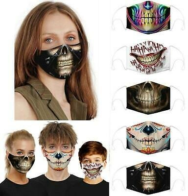 1/2/5PCS Funny Facemask Half Face Mouth Mark HipHop Cospaly Party One Size Mask